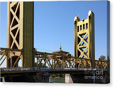 Old Sacramento Canvas Print - Sacramento California Tower Bridge 5d25532 by Wingsdomain Art and Photography