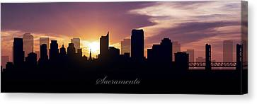 Sacramento Sunset Canvas Print by Aged Pixel