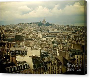 Sacre-coeur And Roofs Of Paris. France.europe. Canvas Print by Bernard Jaubert