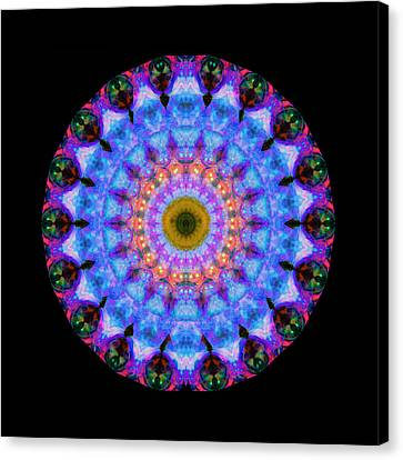 Sacred Crown - Mandala Art By Sharon Cummings Canvas Print by Sharon Cummings