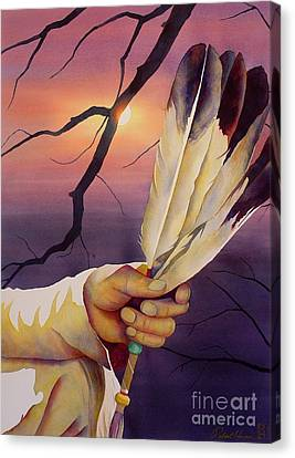 Sacred Feathers Canvas Print by Robert Hooper