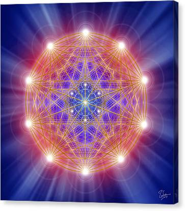 Sacred Geometry 168 Canvas Print by Endre Balogh
