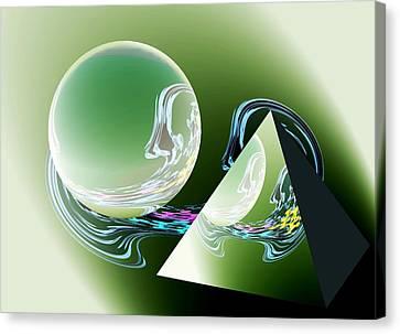 Sacred Geometry Digital Art Canvas Print by Georgeta  Blanaru
