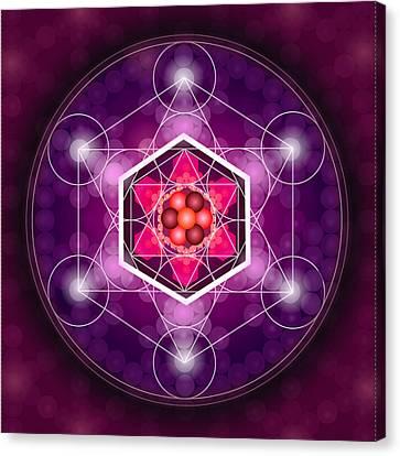 Sacred Geometry Metatrons Cube Canvas Print by Graham Browne
