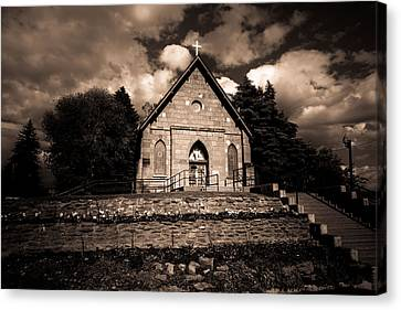 Sacred Heart Catholic Church Canvas Print by Scott McGuire