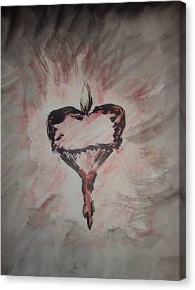 Sacred Heart Canvas Print by Charlene Leger