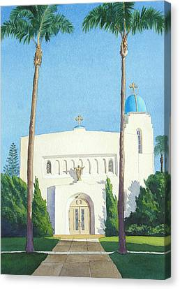 Sacred Heart Church Coronado Canvas Print