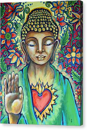 Sacred Heart Of Buddha Canvas Print