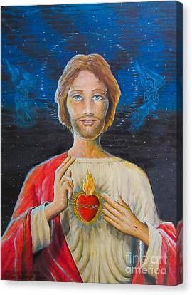 Sacred Heart Of Jesus Canvas Print by Gerald Ziolkowski