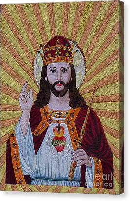 Tolan Canvas Print - Sacred Heart Of Jesus Hand Embroidery by To-Tam Gerwe