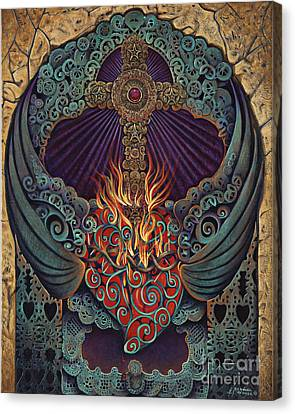 Sacred Heart Canvas Print by Ricardo Chavez-Mendez