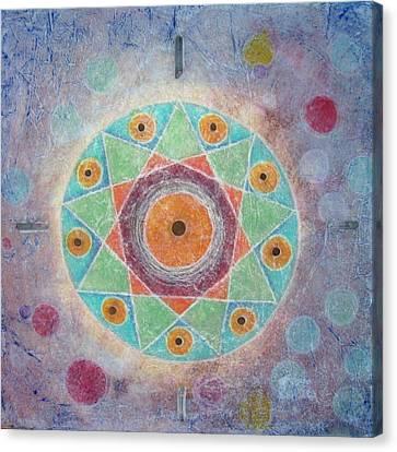 Sacred Nine Canvas Print by Janelle Schneider
