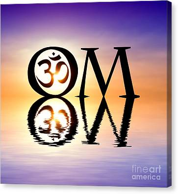 Sacred Om Canvas Print by Tim Gainey
