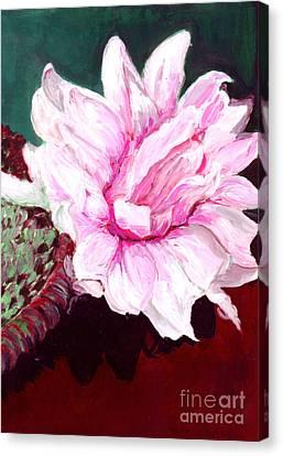Sacred Pink Lotus  Canvas Print by Mukta Gupta