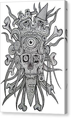 Sacreficial Skull Canvas Print