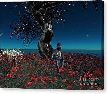 Canvas Print featuring the digital art Sad And Lonely by Susanne Baumann