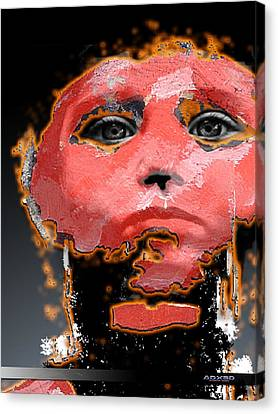 Canvas Print featuring the digital art Sad Eyes by A Dx