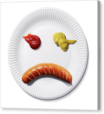 Sad Food Face Canvas Print by Smetek