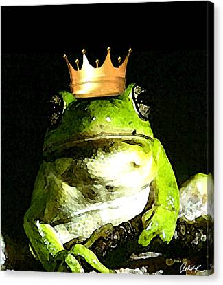 Sad Frog Prince - Digital Watercolor Print Canvas Print