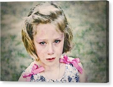 Sad Girl Digital Art Canvas Print by Susan Leggett