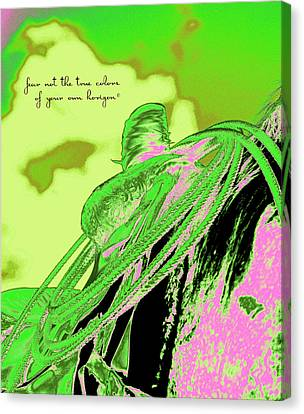 Saddle Electric Pink Canvas Print