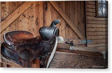 Saddle Rest Canvas Print by Steven Milner