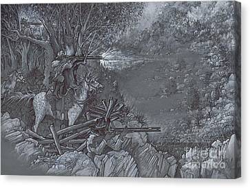 Saddle Sniper Canvas Print by Scott and Dixie Wiley