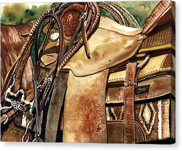 Saddle Texture Canvas Print by Nadi Spencer