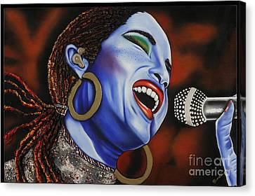 Sade In Concert Canvas Print by Nannette Harris