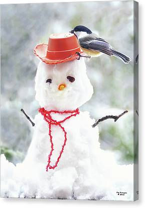 Sadies Snowman Canvas Print