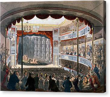 Sadlers Wells, From Ackermanns Canvas Print by T. & Pugin, A.C. Rowlandson