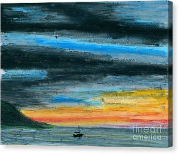 Safe At Harbor Canvas Print by R Kyllo