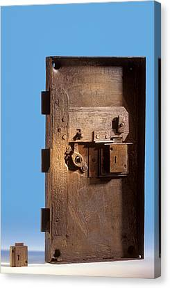 Safe Door From The Titanic Canvas Print by Science Photo Library