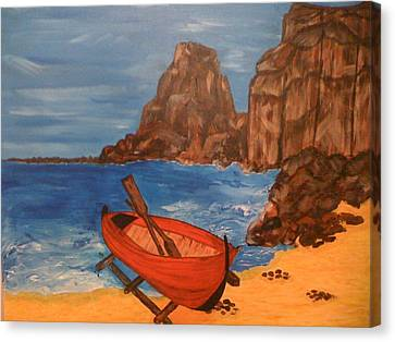 Canvas Print featuring the painting Safe Haven by Judi Goodwin