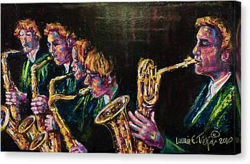 Safe Sax Canvas Print by Laurie Tietjen