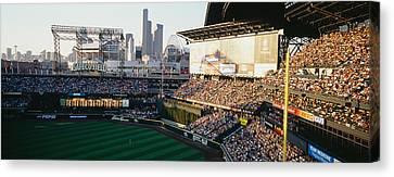 Ballpark Canvas Print - Safeco Field Seattle Wa by Panoramic Images