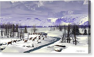 Safety In Numbers Canvas Print by Dieter Carlton