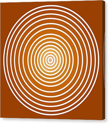 Saffron Colored Abstract Circles Canvas Print by Frank Tschakert