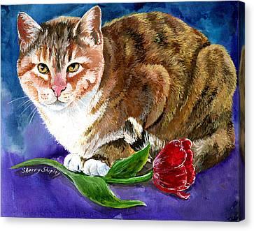 Saffron Canvas Print by Sherry Shipley