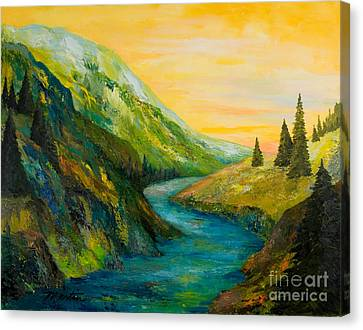 Saffron Sky Canvas Print by Larry Martin