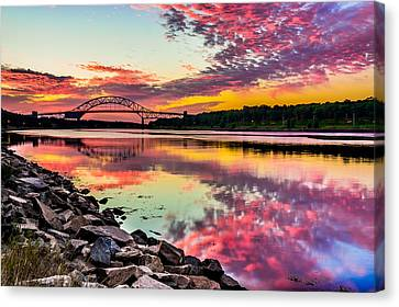 Sagamore Bridge Sunrise Canvas Print