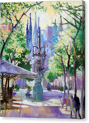 Sagarda Familia Barcelona Canvas Print by Paul Weerasekera