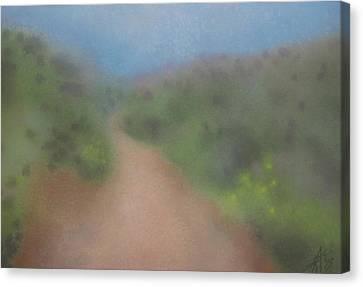 Sagebrush And Coastal Fog Canvas Print by Robin Street-Morris