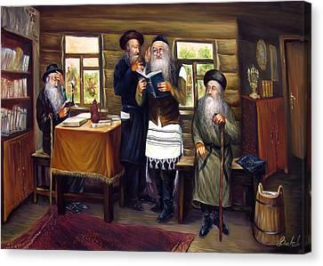 Sages Canvas Print by Haim Buhel