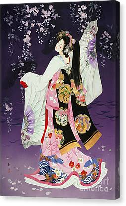Entertainment Canvas Print - Sagi No Mai by Haruyo Morita