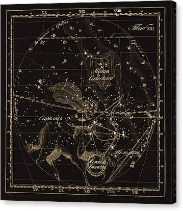 Sagittarius Constellations, 1829 Canvas Print by Science Photo Library
