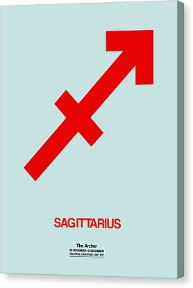 Sagittarius Zodiac Sign Red Canvas Print by Naxart Studio