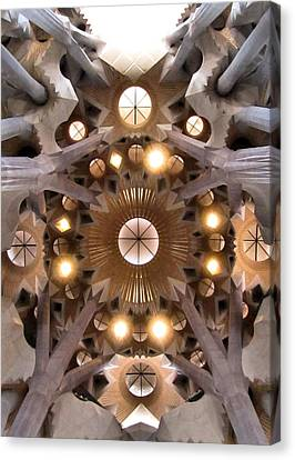 Sagrada Familia Canvas Print by Jennifer Wheatley Wolf