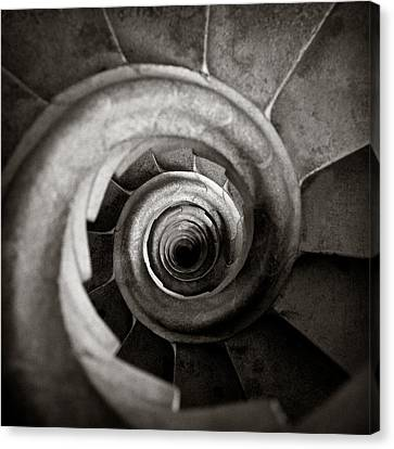 Sepia Tone Canvas Print - Sagrada Familia Steps by Dave Bowman