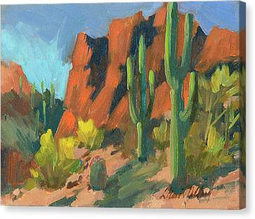 Saguaro Cactus 1 Canvas Print by Diane McClary